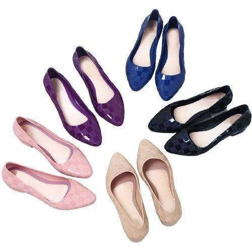 Berry Patch Ballet Flats - Beige, Black, Blue, Pink, Purple