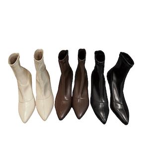 Cleo Clear Heels - Black, Brown, White