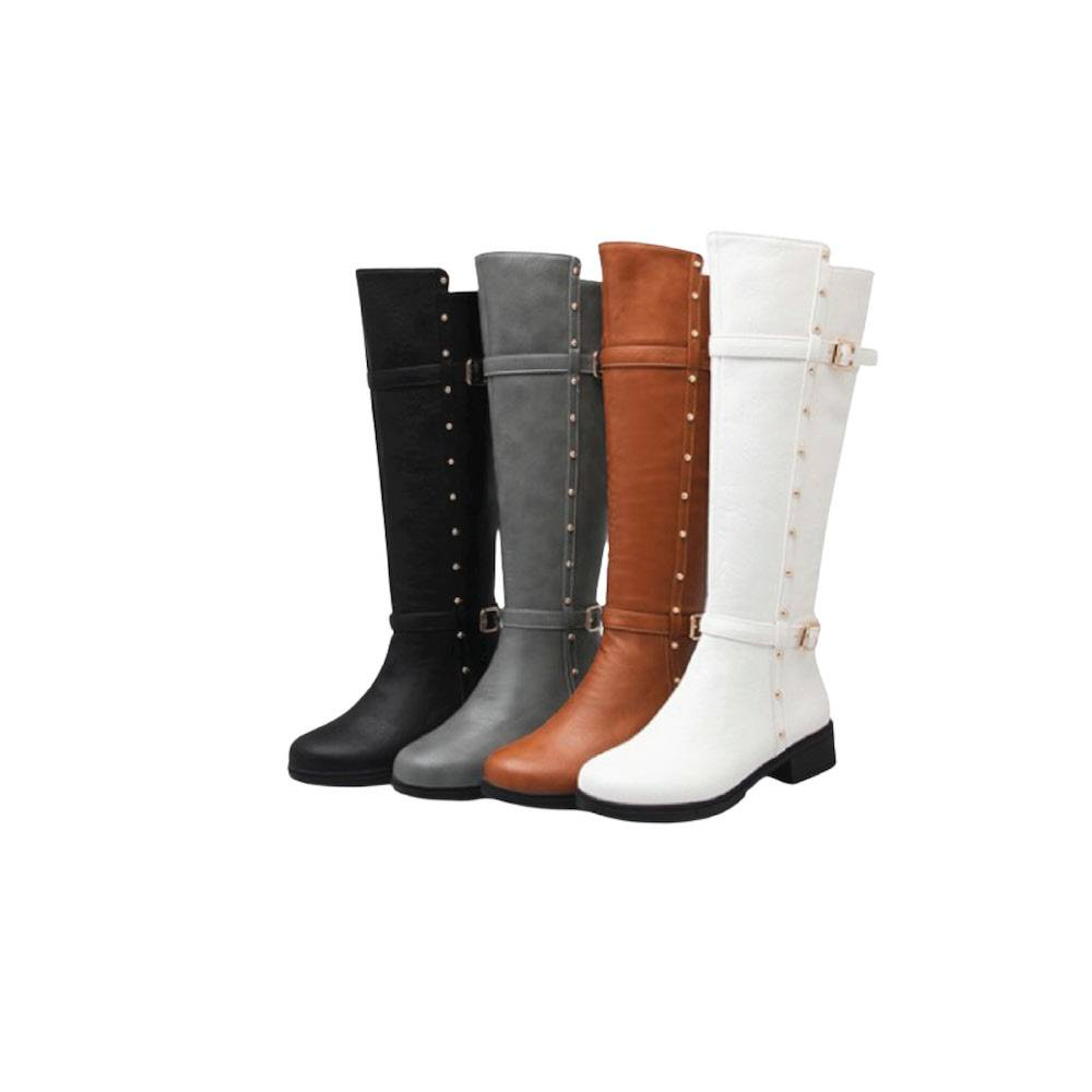 Navi Grace Knee Highs - Black, Brown, Grey, White