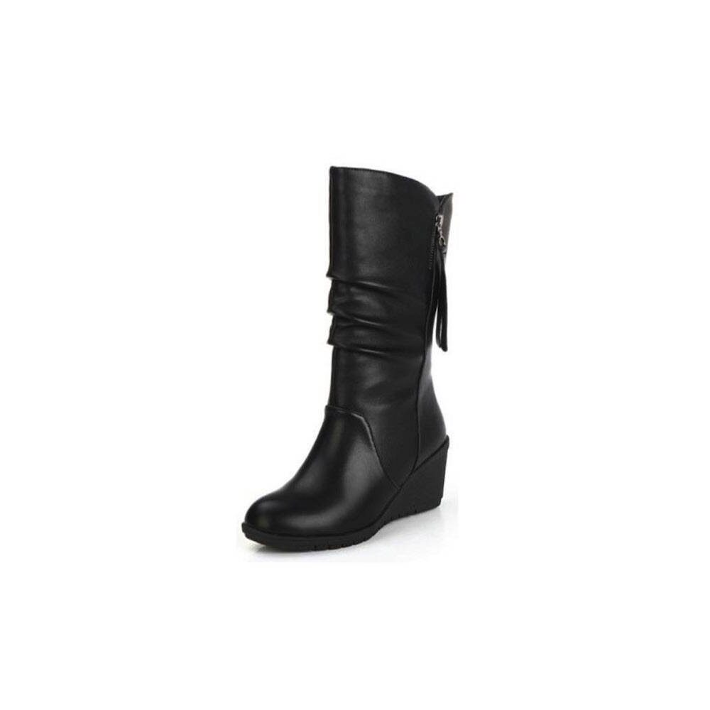 Harleen Ruched Boots - Black