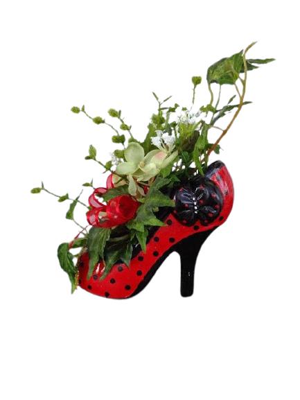 Recycling Shoe into Pot Plant